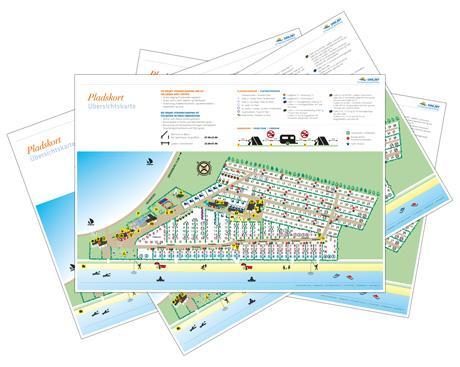 Pladskort Platzkarte Campsitemap